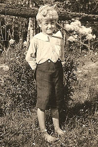 Wendall Thomas Scofield at age 5, about 1923