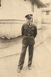 Wendall Thomas Scofield at Camp Cullen during WWII